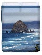 Big Rock On The Oregon Coast Duvet Cover