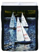 Big Sailors And Little Boats Duvet Cover