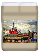 Big Ship Rising Duvet Cover