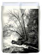 Big Spring In B And W Duvet Cover