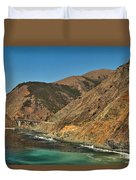 Big Sur And The Bridge Duvet Cover by Adam Jewell