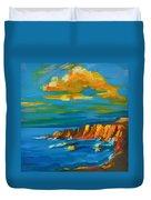 Big Sur At The West Coast Of California Duvet Cover by Patricia Awapara