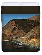Big Sur Bridge Duvet Cover