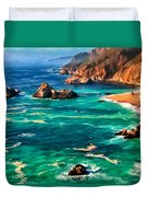 Big Sur Coast Duvet Cover