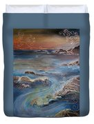 Big Sur In Sunset Duvet Cover