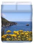 Big Sur Loves Yellow By Diana Sainz Duvet Cover