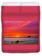 Big Sur Sunset Pfeiffer Beach Duvet Cover