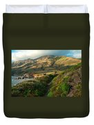 Big Sur Trail At Soberanes Point Duvet Cover