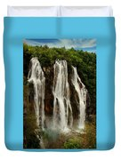 Big Water Fall Croatia Duvet Cover
