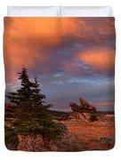 Bighorn Mountains Sunrise Duvet Cover