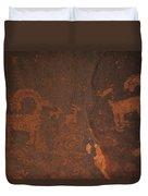 Bighorn Sheep Petroglyph Zion National Park Duvet Cover