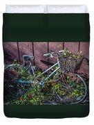 Bike In The Vines Duvet Cover