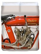 Bike - Motorcycle - Indian Motorcycle Engine Duvet Cover