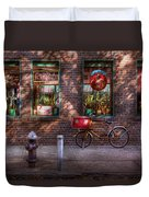 Bike - Ny - Chelsea - The Delivery Bike Duvet Cover