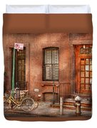 Bike - Ny - Urban - Two Complete Bikes Duvet Cover