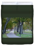 Bike Path Along Kelly Drive Duvet Cover