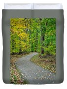 Bike Path Duvet Cover by Frozen in Time Fine Art Photography