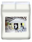 Bike Pittsburgh Duvet Cover