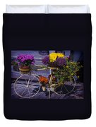 Bike Planter Duvet Cover