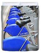 Bike Rental In Marseille Duvet Cover