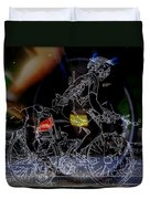 Bike Rider - Canada To Charleston To New Orleans Duvet Cover