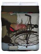 Bike Seat View Duvet Cover