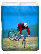 Bike Stunt Duvet Cover