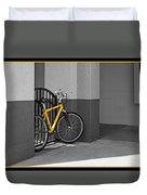 Bike With Frame Duvet Cover