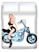 Biker Girl Duvet Cover