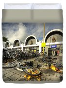 Bikes After The Storm  Duvet Cover