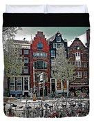 Bikes Everywhere In Amsterdam-netherlands Duvet Cover