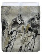 Bikes In The Rain Duvet Cover