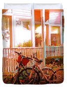 Bikes In The Yard Duvet Cover