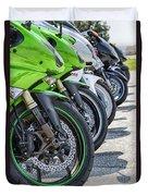 Bikes Lined Duvet Cover
