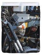 Old Motorbikes Duvet Cover
