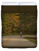 Biking In The Smoky Mountains Duvet Cover