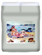 Bikini In Paradise Duvet Cover