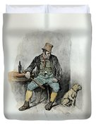 Bill Sykes And His Dog, From Charles Duvet Cover