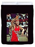 Bill Walton Duvet Cover by Florian Rodarte