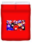 Billiard Balls On The Table Duvet Cover