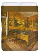 Billiard Room At Menil-hubert Duvet Cover