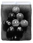 Billiards Art - Your Break - Bw  Duvet Cover