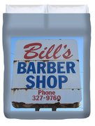 Bill's Barber Shop Duvet Cover
