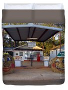 Billy Carters Old Service Station In Plains Georgia Duvet Cover