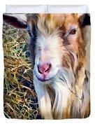 Billy Goat Closeup Duvet Cover