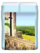 Biltmore Balcony Asheville Nc Duvet Cover by William Dey