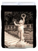 Biltmore Cherub Asheville Nc Duvet Cover by William Dey