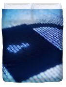 Electronic Data Security Duvet Cover