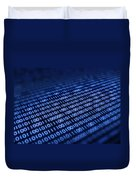 Binary Code On Pixellated Screen Duvet Cover