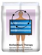 Biofeedback Therapy Duvet Cover